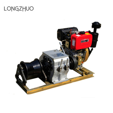 3 Ton Enjin Diesel Engine Powered Cable Puller Winch