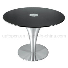 Stainless Steel Trumpet Base Coffee Shop Table (SP-GT106)