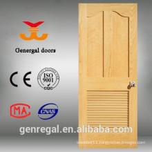 Solid wood interior wood door louvers