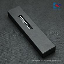 regalo de la caja del cajón del papel de Kraft negro que empaqueta para la pluma