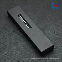 black Kraft paper drawer box gift packaging for pen