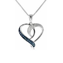 Forma de coração 925 Pingentes de prata Jóias Micro Setting