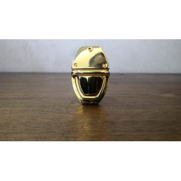 fashion Style metal Song A Metal Turn and Snap lock hardware decorative High quality handbag Push lock