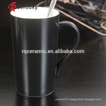 Tow tone ceramic porcelain mugs glazed stoneware mug