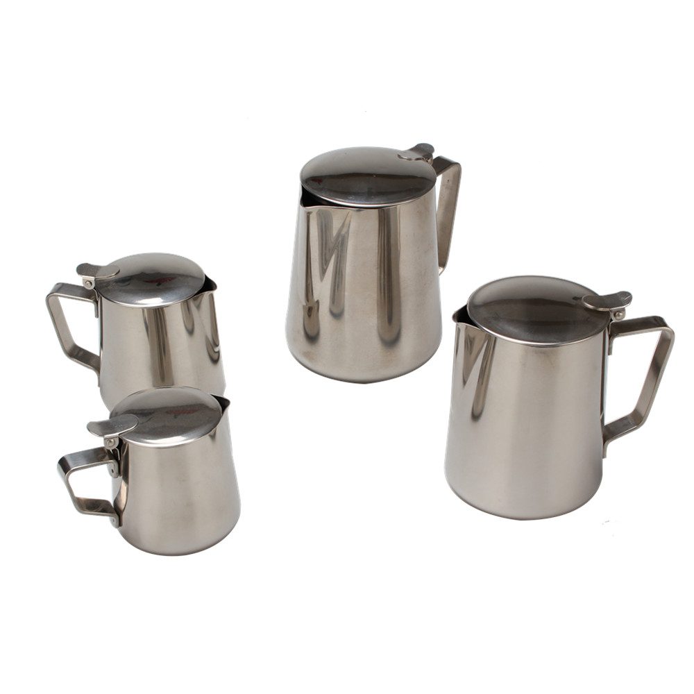 Food Grade Stainless Steel Milk Frother Pitcher With Lid