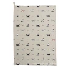 hight quality funny dog print pattern kitchen towel tea towel TT-024