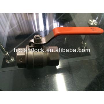 Válvula de bola ligera del acero inoxidable del puerto lleno de 2 PC