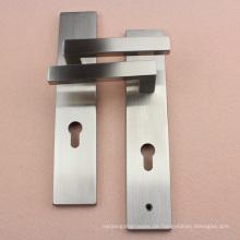 Effektive Lieferung Türgriffset mit Lock-Platte in Satin Nickel