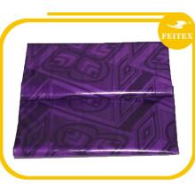 New Fashion Purple African Garment Guinea Brocade Cotton Abaya Fabric Material Bazin Riche Soft Textiles Wedding Party Feitex