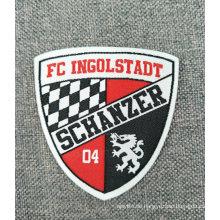 Gesponnener Fußball-Team Name Logo Label