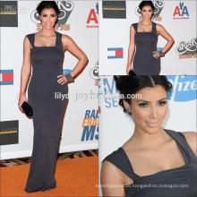 Elegant Sheath Floor Length Spaghetti Strap Custom Made Red Carpet Celebration Dresses KD003 kim kardashian evening dresses
