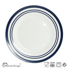 27cm Ceramic Dinner Set with Simple Design Decal Print