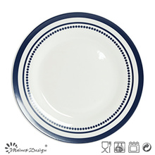 27cm Porcelain Dinner Plate with Simple Decal Printing