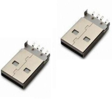 USB A Type Plug SMT Messing Shell 3.13