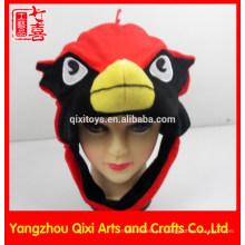 Sombrero animal de la felpa en forma de cabeza de la fábrica china de la fábrica para los niños