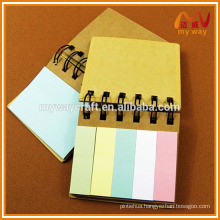 kraft cardboard cover sticky notes and memo pads set for wholesale