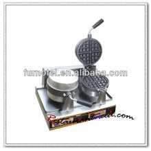 K504 Countertop 2 Heads Electric Rotary Waffle Baker