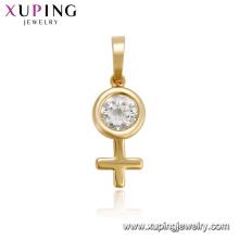 33440 xuping vente chaude élégant femmes bijoux dernière conception pendentif de pierres précieuses pour les femmes