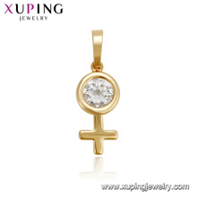33440 xuping hot sale elegant women jewelry latest design gemstone pendant for women
