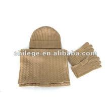 ensembles de chapeaux, écharpes et gants en cachemire