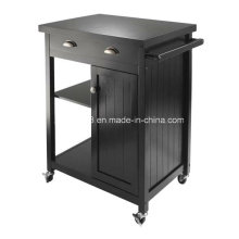Wood Kitchen Cart Buffet Cabinet Solid Wood Kitchen Cart with CE (G-K09)