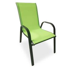 Outdoor Garden Supplies Balcony Metal Sling Chair Garden Furniture Stackable Chairs