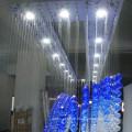 Hotel Lobby Pendant Lamp Blue Handing Luxury Crystal Chandelier