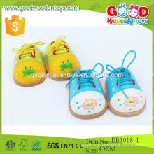 2015 Best Sale Product Lovely Baby Shoes Wooden Promotional Toy