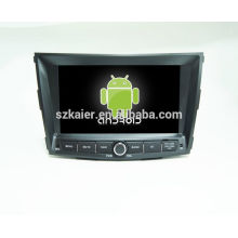 ¡CALIENTE! DVD del coche con el enlace del espejo / DVR / TPMS / OBD2 para la pantalla táctil de 8 pulgadas quad core 4.4 Android sistema Ssangyong Tivolan