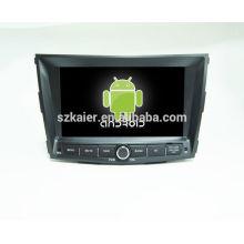 HOT! Voiture dvd avec lien miroir / DVR / TPMS / OBD2 pour 8 pouces écran tactile quad core 4.4 Android système Ssangyong Tivolan