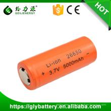 Batería de litio del reemplazo de la linterna de la batería del Li-ion de GLE 26650 3.7v 5000mAh