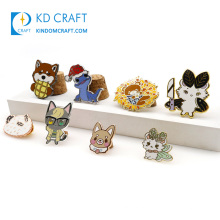 China manufacturers wholesale no minimum cheap custom logo 3d cartoon anime souvenir badge metal enamel lapel pin