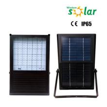 Impermeable led luces de inundación con alimentación solar, luz solar al aire libre con temporizador, luz de seguridad solar