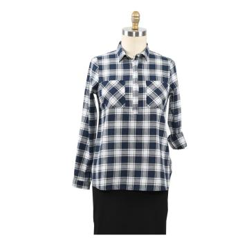 2020 Mode Frauen Plaid Shirt Chic Karierte Bluse