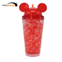 Wholesale Double Wall Insulated Straw Plastic Cup