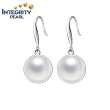 Boucles d'oreilles en perle de haute qualité AAA 9-10mm Boucles d'oreilles en perle 925 Argent