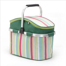 Wholesale Lightweight Foldable Shopping Basket Folding Fabric Vehicle Ice Basket For Outdoor Fruit Basket Picnic