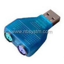 O adaptador USB para PS2 com chip, teclado e mouse pode ser usado simultaneamente
