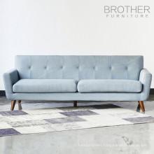 Living room 3 seater modern wooden sofa design