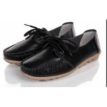 Senhoras condução sapatos mocassim-gommino sapatos casuais sapatos de couro (bd0615-11)