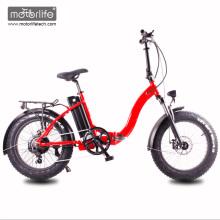 2017 neue design 48V1000W 20 '' electric bike fetten reifen, faltbare e-bike aus china