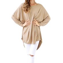 Катя Касин Женская Повседневная свободные длинные batwing рукавом Тан Хай-Лоу платье KK000706-2