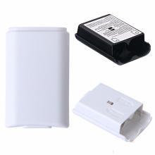 Pacote de bateria Cobertura Porta Shell Shield Case Kit para Xbox 360 Controlador sem fio Tampa de bateria de alta qualidade Black Shell