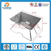optional size stainless steel barbeque professional grill, charcoal barbecue with net, brick bbq grill