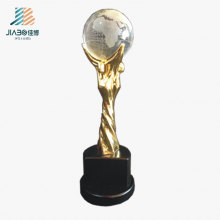 Regalo promocional Gold Custom Enamel Star Logo Metal Oscar Crystal Trophy en Stock