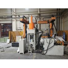 Автоматическая машина для производства поворотных блоков из алюминиевой стружки