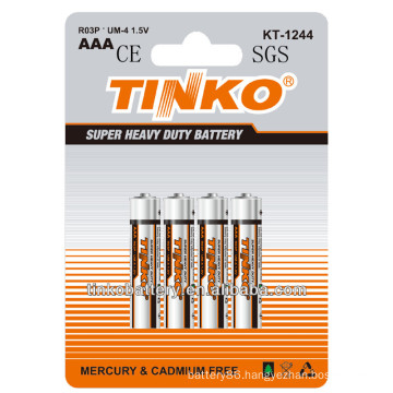Tinko brand hot selling aaa um4 r03P dry battery in Europe
