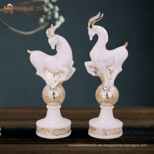 Home Dekor Artikel Großhandel Preis Harz Antilope Skulptur für Weihnachtsgeschenke