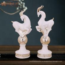 Предметы домашнего декора Оптовая цена смолы скульптура антилопа для рождественских подарков