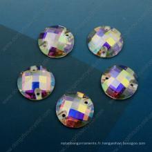 Découpez la pierre en vrac de verre d'Ab de machine pour des accessoires de vêtement (DZ-3043)
